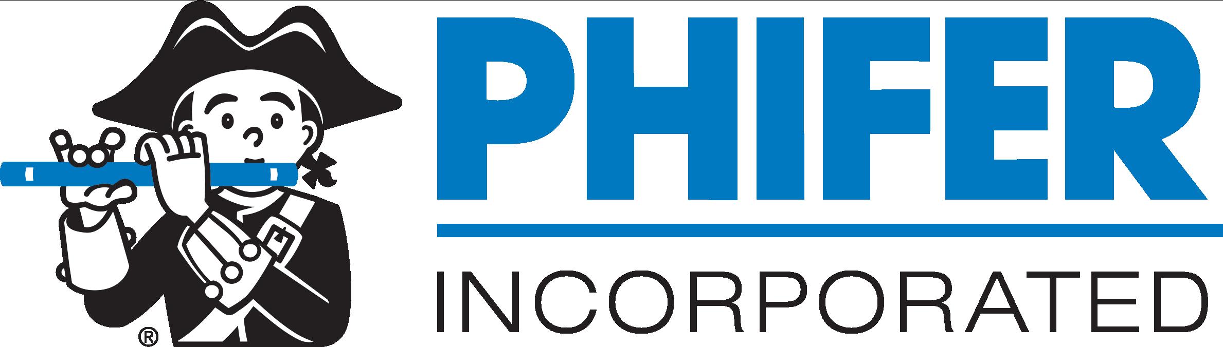 Phifer Inc Logo V19 Black White Blue