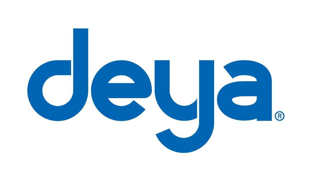 Deya標準logo 白底藍字